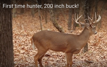 First time hunter harvests 200″ buck